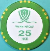 HK$25 Casino Chip. Wynn, Macau. Q04. - Casino