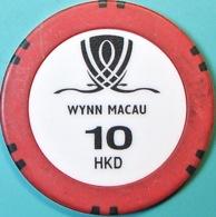 HK$10 Casino Chip. Wynn, Macau. Q04. - Casino