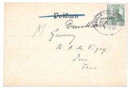 Bahnpost Berlin-Hildesheim, Zug 32, Karte (Berlin, Königl. Schloss, Wasserseite), 1908 - Briefe U. Dokumente