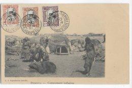 COTE DES SOMALIS - 1906 - CARTE (CAMPEMENT) OBLITEREE De DJIBOUTI NON VOYAGEE - Côte Française Des Somalis (1894-1967)