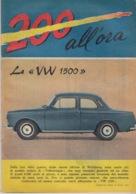 """RIVISTA """"200 ALL'ORA"""" SUPPLEMENTO ALL'I INTREPIDO N°13 Del 28-3-1961- SPILLATO-FOTOGRAFIE IN BIANCO  NERO E COLORATE - Libri, Riviste, Fumetti"""