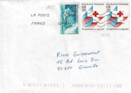 TP  2555 En 2 Ex Et 1519 Sur Enveloppe De Montpellier - Marcophilie (Lettres)