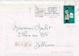 TP  3029 Seul  Sur Enveloppe De Beaucourt - Marcophilie (Lettres)
