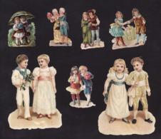 Découpis   Lot De 14    Couples       10 X 7.4 Cm Le Plus Grand - Découpis