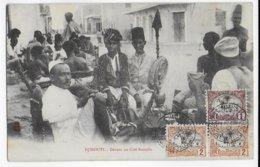 COTE DES SOMALIS - 1908 - CARTE (CAFE SOMALIS) De DJIBOUTI => MARSEILLE - Côte Française Des Somalis (1894-1967)