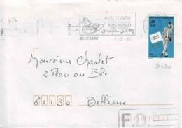 TP  3030 Seul  Sur Enveloppe De Beaucourt Avec Mention FD Sur Repérage Informatique - Marcophilie (Lettres)