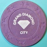 $5 Casino Chip. Grand Diamond, Poipet, Cambodia. Q04. - Casino
