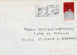TP  3034 Seul  Sur Enveloppe De Cosne Cours Sur Loire - Marcophilie (Lettres)