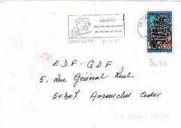 TP  3036 Seul  Sur Enveloppe De St Lö - Marcophilie (Lettres)