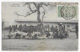 COTE DES SOMALIS - 1912 - CARTE (MARCHE De DIRE-DAOUA) De DJIBOUTI OBLITERATION MARITIME YOKOHAMA N°6 => MARSEILLE - Côte Française Des Somalis (1894-1967)
