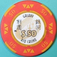 HK$50 Casino Chip. Galaxy Rio, Macau. Q04. - Casino