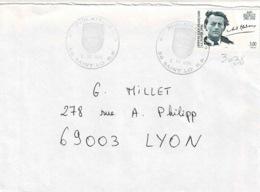 TP  3038 7 Seul  Sur Enveloppe De St Lô - Marcophilie (Lettres)
