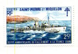 30 ème Anniversaire D U Ralliement à La FRANCE LIBRE N° Yvert 415 **,MNH, Très Beau Cote 42,50 - Nuovi