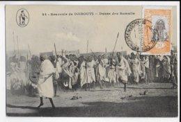 COTE DES SOMALIS - 1920 - CARTE (DANSE) De DJIBOUTI => MONTPELLIER - Côte Française Des Somalis (1894-1967)