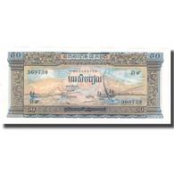 Billet, Cambodge, 50 Riels, UNDATED (1956-75), KM:7b, SUP - Cambodge