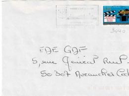 TP  3040 Seul  Sur Enveloppe De Granville - Marcophilie (Lettres)
