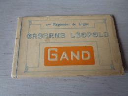 Belgique  België  ( 617 )   Gand   Gent  Carnet Met 10 Postkaarten : Caserne ( Kazerne ) Léopold - 10 Scans - Gent