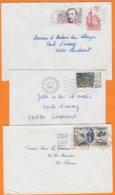 22 COTES Du NORD  Lot De 3 Lettres De DINAN  PLESLIN  Et PLOUFRAGAN   Années Mélangées - Marcophilie (Lettres)