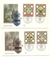 1973 - Vaticano 544/47 Stemma Diocesi Di Praga        FDC - Buste