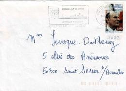 TP  3042 Seul  Sur Enveloppe De Granville - Marcophilie (Lettres)