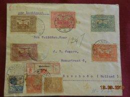 Lettre Des Indes Néerlandaises De 1930 En Recommandé Par La Poste Aerienne Pour Enschede - Indie Olandesi