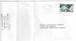 TP  3044 Seul  Sur Enveloppe De Paris 14 CTC - Marcophilie (Lettres)