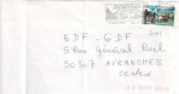 TP  3048  Seul  Sur Enveloppe De St Jean Le Thomas - Marcophilie (Lettres)