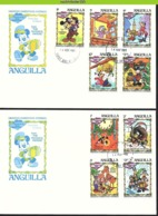 Nfe0051b WALT DISNEY JAPIE KREKEL GOOFY MICKEY CHRISTMAS ANGUILLA 1983 FDC's - Disney