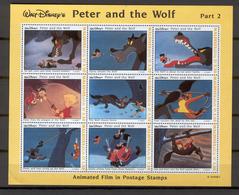 Disney Maldives 1993 Peter And The Wolf Sheetlet #2 MNH - Disney