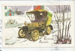 Carte De Vœux. Voiture 1900 Dans La Neige. - Nouvel An