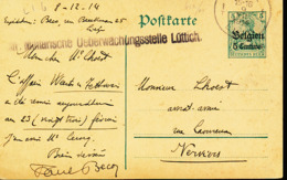 BELGIUM  WW1 PC FROM LIEGE TO VERVIERS - WW I