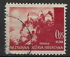 CROATIE   -    1941 .   Y&T N° 32 Oblitéré .  Ozalj. - Croatie