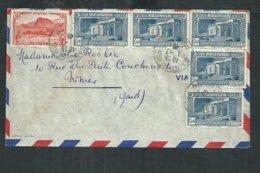 Réunion. Enveloppe De Saint Denis Pour Nîmes (Gard) Avec Musée Leon Dierx Et Salazie - Réunion (1852-1975)