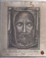 RELIQUIA RELIC RELIQUARY RELIKWIE VERA EFFIGIES SACRI VULTUS DOMINI NOSTRI JESU CHRISTI - VERSO: SS. LEONIS XIII 1883 - Santini