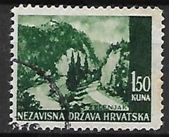 CROATIE   -    1941 .   Y&T N° 35 Oblitéré .  Zelenjak. - Croatie