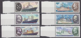 Russia, USSR 24.11.1980 Mi # 5012-17, Research Ships (II), MNH OG - Nuevos