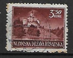 CROATIE   -    1941 .   Y&T N° 36 B Oblitéré . Trakoscan. - Croatie