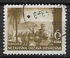 CROATIE   -    1941 .   Y&T N° 39 Oblitéré . Dubrovnik. - Croatie