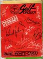 Programme Autographes  Golf Drouot Livre De 10 Pages Divers Chanteurs Années 60 - Autogramme & Autographen