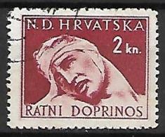 CROATIE   -    Timbre De Bienfaisance   -  1943 .  Y&T N° 4 Oblitéré . Au Profit Des Victimes De Guerre. - Croatie