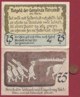 Allemagne 1 Notgeld 75 Pfenning Stadt Neinstedt (SERIE COMPLETE 6X0.75) (RARE 77x53 Mm)  Dans L 'état N °4781 - [ 3] 1918-1933 : República De Weimar