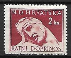 CROATIE   -    Timbre De Bienfaisance   -  1943 .  Y&T N° 4 * . Au Profit Des Victimes De Guerre. - Croatie
