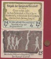 Allemagne 1 Notgeld 75 Pfenning Stadt Neinstedt (SERIE COMPLETE 6X0.75) (RARE 77x53 Mm)  Dans L 'état N °4782 - [ 3] 1918-1933 : República De Weimar