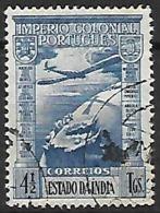 INDE  Portugaise  -  4 1/2 Tanga. Avion .  Oblitéré - Inde Portugaise