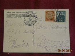 Carte De Bohème & Moravie De 1938 - Lettres & Documents