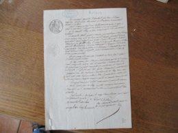 22 FEVRIER 1844 AGAPITE BLANCHARD FACTEUR ET DAME APLANCOUR DEMEURANT A AULNOYE DEBITEUR DE M. ELIEZ NOTAIRE - Manuscrits