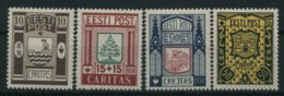 1938 Estonia, Stemmi Di Città, Serie Completa Nuova (*) - Estonie