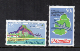 MAURITIUS - 1970 - Lufthansa - Volo Inaugurale - 2 Valori - Nuovi - Linguellati - (FDC16880) - Mauritius (1968-...)