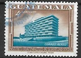 GUATEMALA    -    Poste Aérienne .  Institut De  Sécurité Sociale.  Oblitéré - Guatemala