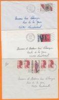 22 COTES Du NORD  Lot De 3 Lettres    Années Mélangées Pour 56690  LANDEVANT Morbihan Avec Affranchissements Divers - Marcophilie (Lettres)